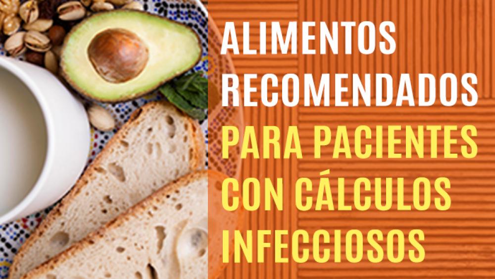 Alimentos recomendados para pacientes con cálculos infecciosos