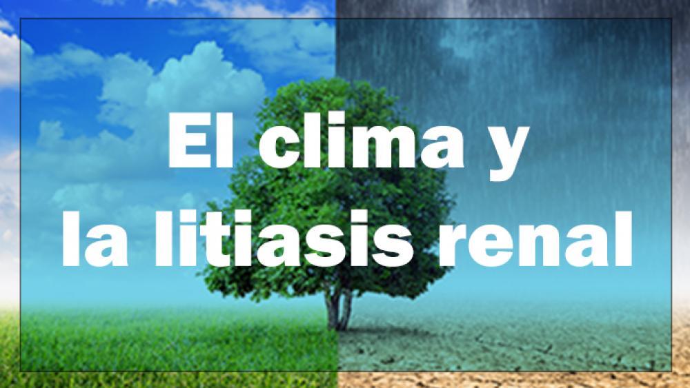 El Clima y la litiasis renal
